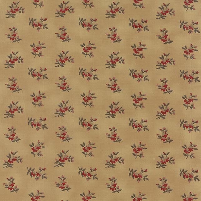 Fat Quarter 'Richmond Red' fabric by Barbara Brackman for Moda