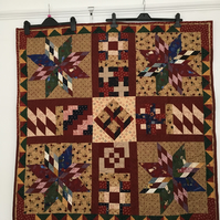 Bold and Beautiful Patchwork Quilt designed by Englishquilter