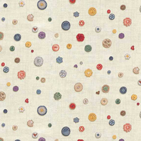 Fat Quarter Haberdashery 'Buttons' Fabric from Makower.