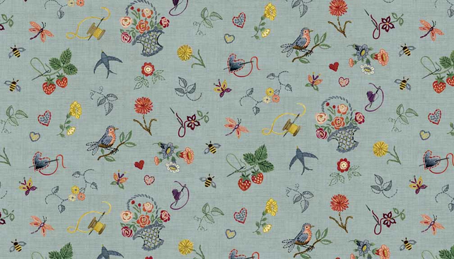 Fat Quarter Haberdashery 'Embroidery' Fabric from Makower.