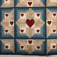 Heart to Heart Patchwork Quilt made by Englishquilter