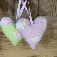 20% OFF! 2 Bunny Hanging Hearts