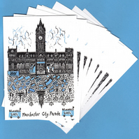 Manchester City Football Parade, 10 postcards
