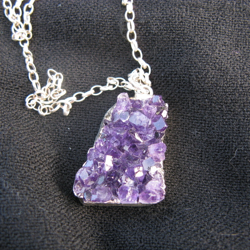 Handmade - Amethyst Druzy in Sterling Silver - Ceres