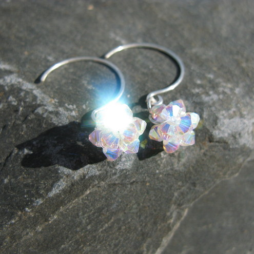 Handmade - Swarovski Woven Earrings - Chaya