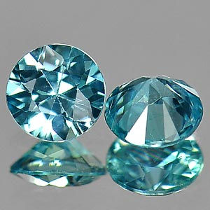PAIR NATURAL ZIRCON GEMSTONES