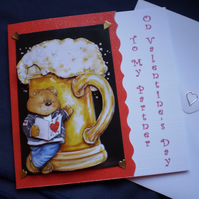 Valentine Card For Partner, teddy, beer SALE