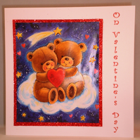 Decoupage Cute Teddies Valentine Card SALE