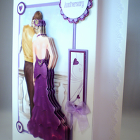 Handmade Our Anniversary Decoupage, 3D Card,Elegant Couple,Personalise