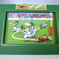 Handmade Decoupage 3D Rugby Birthday Card,Personalise,Any Occasion