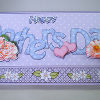 Handmade Money ,Gift Card Wallet For Mother's Day, Flower,Matching Envelope