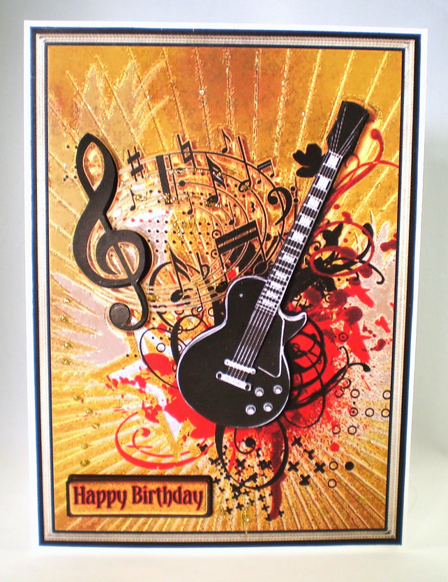 3D Guitar Birthday Card16th18th21stPersonalise