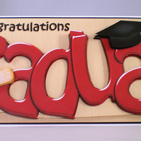 Handmade Graduation Card,3D ,Personalise