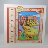 Easter 3D greeting Card,Cute Chick,Handmade,Personalise