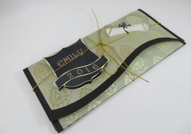 Handmade Graduation Money, Gift Wallet, 3D