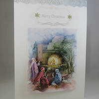 Religious3D Christmas Card,handmade ,personalise