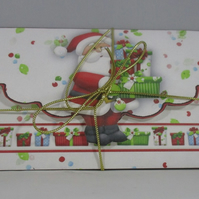 Handmade Money, Gift Card Wallet, Santa, Christmas