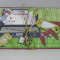 Handmade Money ,Gift Card Wallet ,Computer ,Gadgets, Christmas