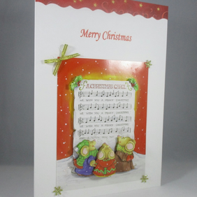 Decoupage,3D  Carol Singing Christmas Card,personalise