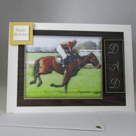 Horse Racing Dad's Birthday,Father's Day Card