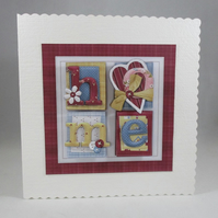 Handmade New Home Greeting Card, 3D, Personalise