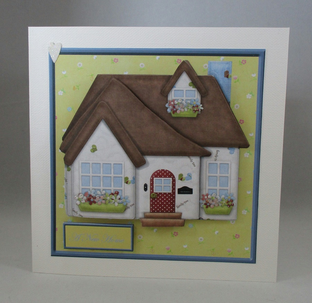 Handmade 3D New Home Greeting Card, personalise