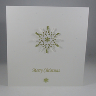 Plain and Simple Snowflake Christmas Card, choice of snowflake colour