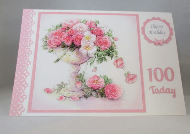 Decoupage Roses Birthday Cardtumbling