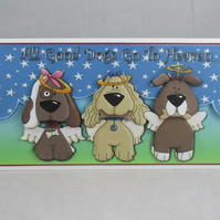 Sympathy Greeting Card for Pet, Dog, Decoupage,3D