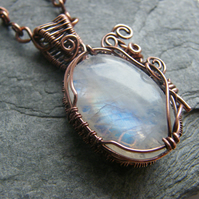 Moonstone locket,  Moonstone necklace,  Moonstone pendant, Moonstone jewellery