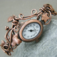 Ladies copper watch bangle bracelet, Woodland style bracelet watch