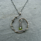 Peridot, Sterling silver August birthstone necklace