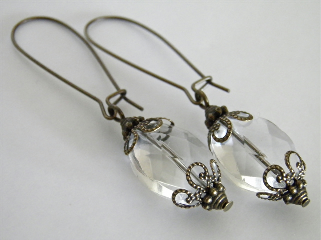 Crystal Clear Earrings S A L E
