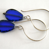 Sterling Silver Blue Earrings