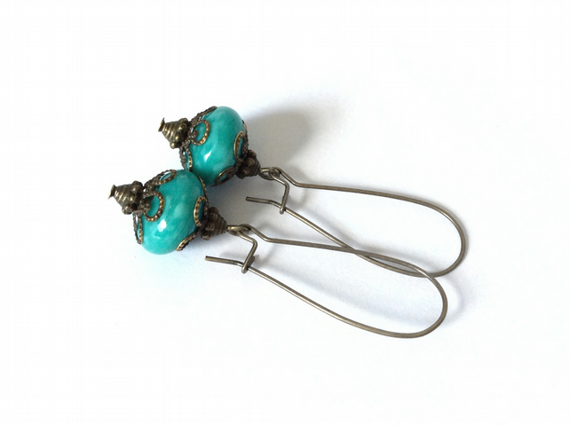 Teal Earrings Turquoise S A L E