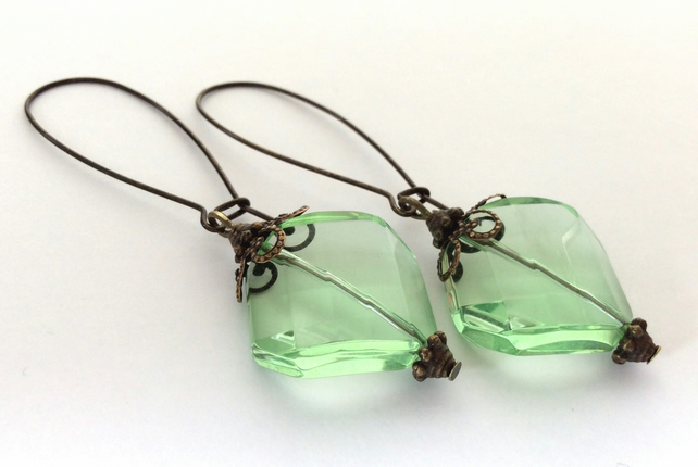 Vintage Style Green Earrings S A L E