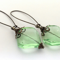 Vintage Style Green Earrings