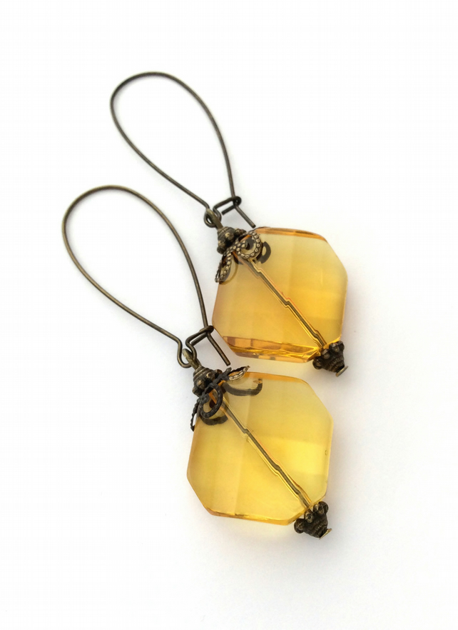S A L E Antique Style Amber Earrings S A L E