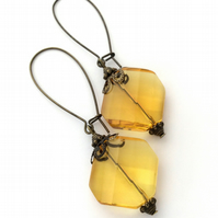 Antique Style Amber Earrings