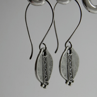 Silver Medallion Earrings