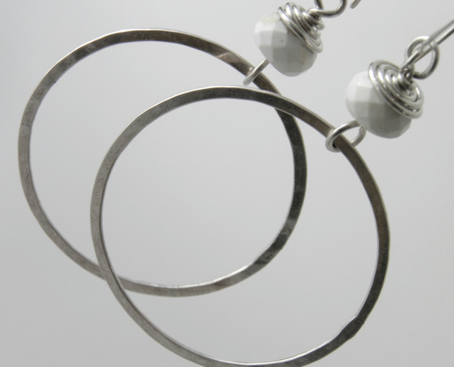 Large Sterling Silver Hoop Earrings