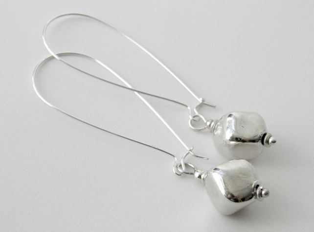 Sterling Silver Long Earrings