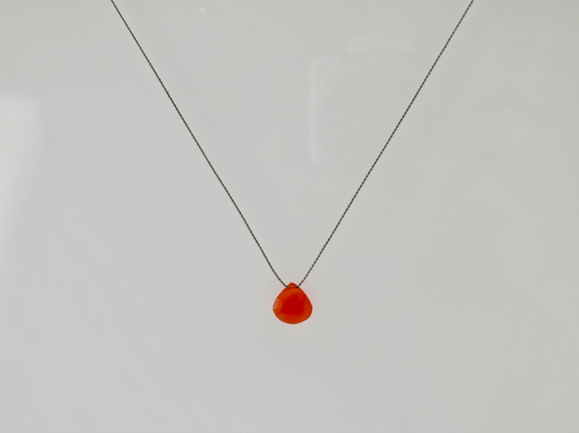 Minimalist Carnelian Gemstone Necklace