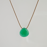 Minimalist Chrysoprase Gemstone Necklace