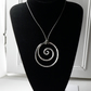 Sterling Silver Spiral Necklace on Leather