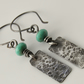 Turquoise Sterling Silver Oxidised Earrings