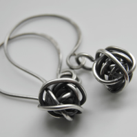 Sterling Silver Earrings - Sterling Silver Love Knot