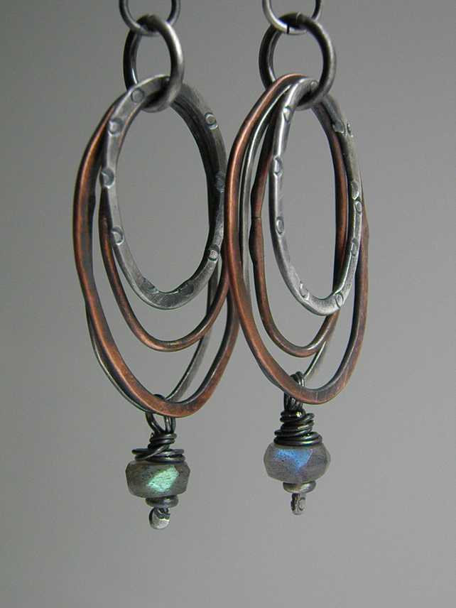 Labradorite Earrings Sterling Silver Earrings Gemstone Earrings