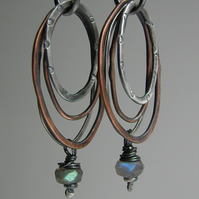 Labradorite Earrings Sterling Silver Earrings