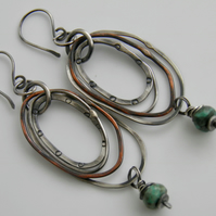 Turquoise Earrings Sterling Silver Earrings